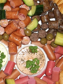 sausage snack platters are particularly yummy with dips