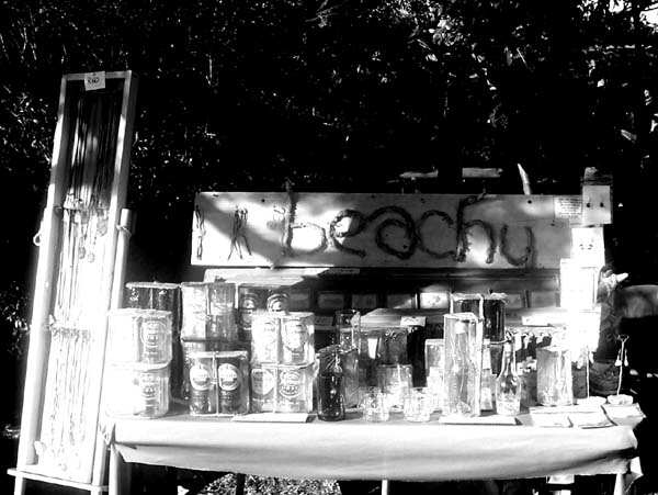 beachy craft stall at Tea in the Trees market day
