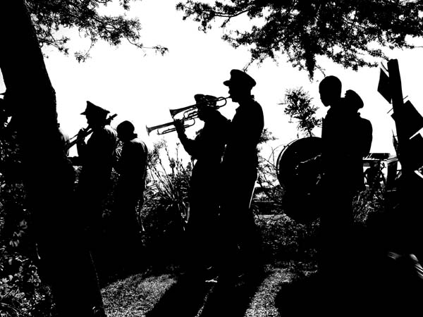 brass band at Tea in the Trees