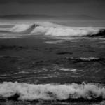 dark ocean hazy bay
