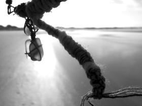 sea glass jewellery at beach