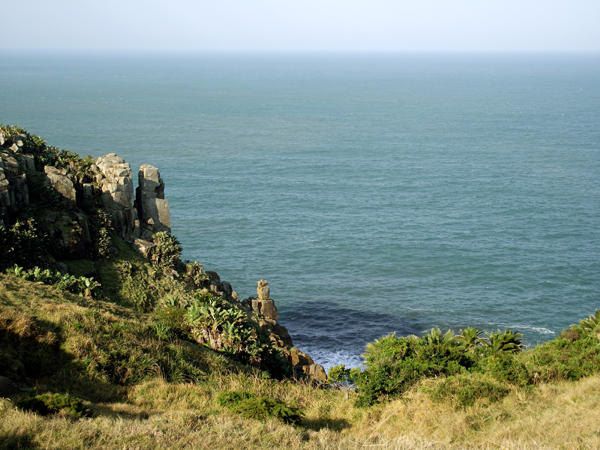 Morgan Bay cliffs and ocean