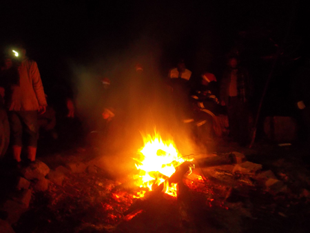 around the bonfire at Butterfly Bistro in Hogsback