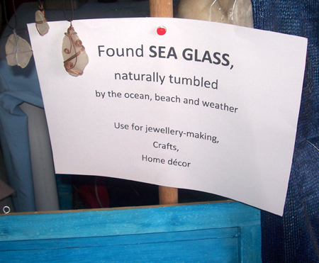 found sea glass notice