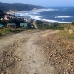ocean and village at Morgan Bay