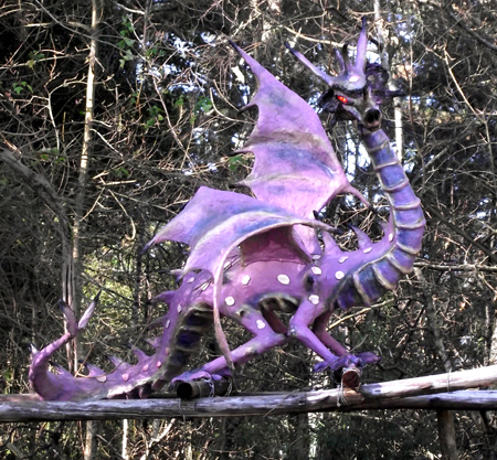 purple dragon thing in Hogsback