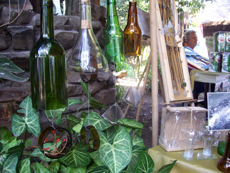 upcylced bottles windchimes