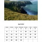 April 2014 calendar Morgan Bay