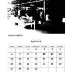 Free 2014 calendar April