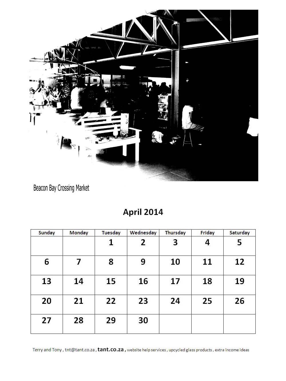 April Calendar London : Free calendar east london markets theme