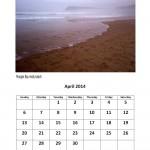 April 2014 free calendar Morgan Bay