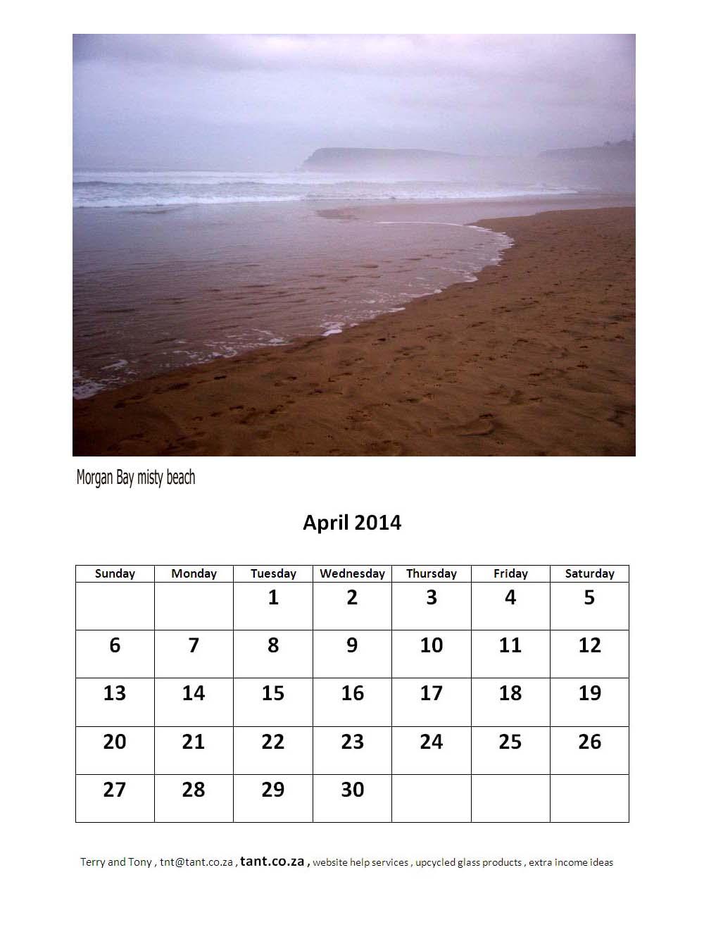 April Calendar London : Free calendar east london beach theme
