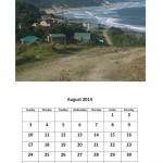 Free 2014 calendar for August Morgan Bay theme
