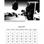 August 2014 calendar East London markets theme