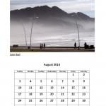 August 2014 calendar East London beach theme calendar