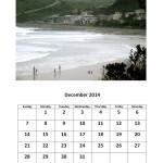 December 2014 calendar Morgan Bay