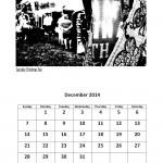 Free 2014 calendar single month page December