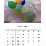 December 2014 calendar sea glass