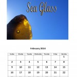 February 2014 calendar sea glass