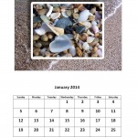 January 2014 calendar sea glass