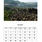 Free 2014 calendar for July Morgan Bay theme