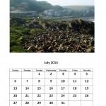 Free 2014 calendar for July Morgan Bay theme