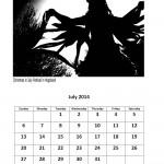 July 2014 calendar East London markets theme