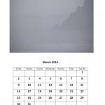 Free March 2014 calendar Morgan Bay