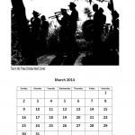 Free March 2014 calendar markets
