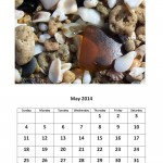 May 2014 calendar sea glass