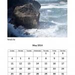 Free May 2014 calendar Mermaids Pool