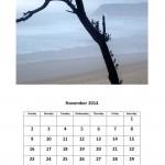 November 2014 calendar Morgan Bay