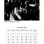 Free 2014 calendar single month page November