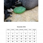 Free 2014 calendar sea glass theme November
