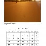 Free 2014 calendar for November 2014