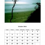 October 2014 calendar Morgan Bay