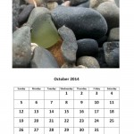 October 2014 calendar sea glass