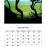 Free 2014 calendar for September Morgan Bay theme