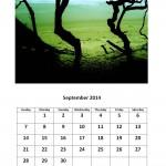 Free 2014 calendar for September Morgan Bay theme