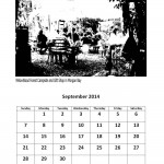 September 2014 calendar East London markets theme