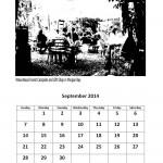 September 2014 calendar East London markets theme