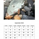 September 2014 calendar sea glass