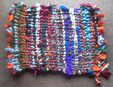 weaving - woven mat or rag rug