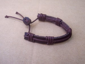 we make and sell an assortment of brown leather bracelets at R20 each