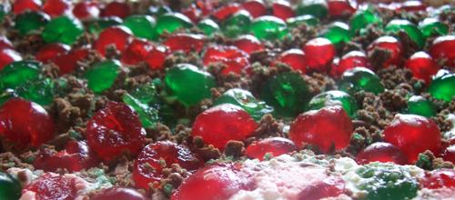 lots of cherries peppermint crisp fridge tart
