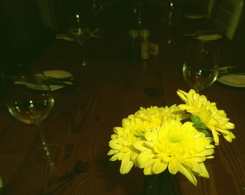 flowers on a table at Sanook restaurant in Berea