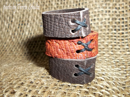 product photography brown leather rings