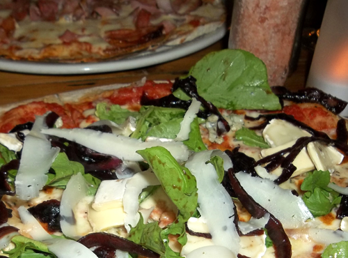 two gorgeous pizzas at Sanook cafe in Berea