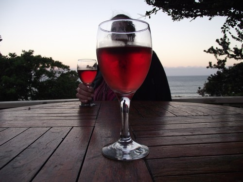Crawfords Beach Lodge-Light refreshments - in fading light