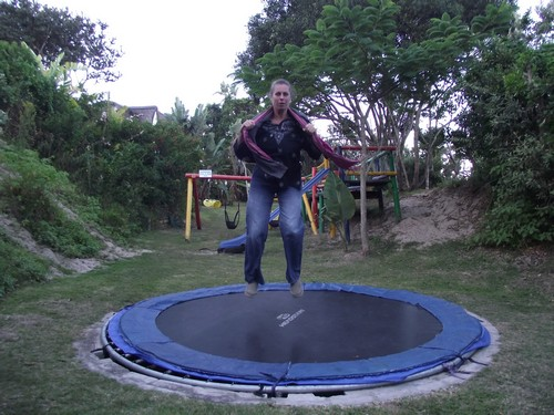 Crawfords Beach Lodge-Terry trampolining